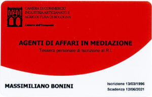 tesserino di riconoscimento Massimiliano Bonini fronte